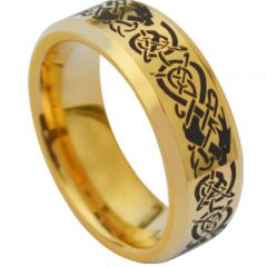 (Wholesale)Tungsten Carbide Beveled Edges Ring - TG3831