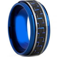 (Wholesale)Tungsten Carbide Ring With Carbon Fiber - TG4012