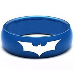 (Wholesale)Tungsten Carbide BatMan Dome Ring - TG3805AA