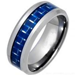 (Wholesale)Tungsten Carbide Ring With Carbon Fiber - TG1440