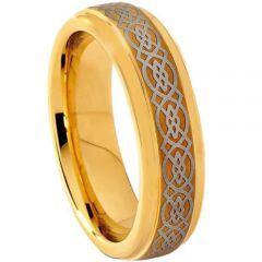 (Wholesale)Tungsten Carbide Celtic Ring-1556
