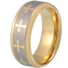 (Wholesale)Tungsten Carbide Cross Ring - TG1870