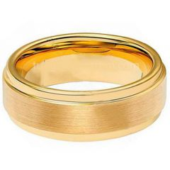 (Wholesale)Tungsten Carbide Step Edges Ring - TG1942A