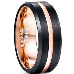 (Wholesale)Tungsten Carbide Black Rose Ring-1951