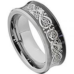 (Wholesale)Tungsten Carbide Concave Dragon Ring - TG2130