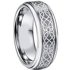(Wholesale)Tungsten Carbide Celtic Step Edges Ring-TG2760AA