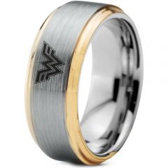(Wholesale)Tungsten Carbide Wonder Woman Ring - TG3233