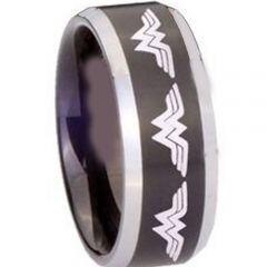 (Wholesale)Tungsten Carbide Wonder Woman Ring - TG3379