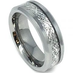 (Wholesale)Tungsten Carbide Imitate Meteorite Ring-4190