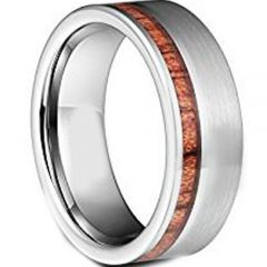 (Wholesale)Tungsten Carbide Offset Wood Ring - TG3498A
