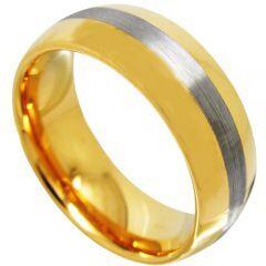 (Wholesale)Tungsten Carbide Dome Center Line Ring - TG4368