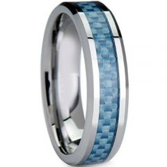 (Wholesale)Tungsten Carbide Ring With Carbon Fiber - TG4016