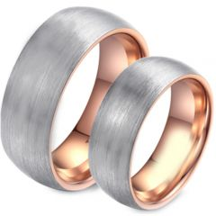 (Wholesale)Tungsten Carbide Dome Ring - TG4495
