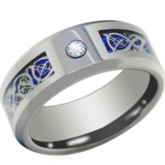 (Wholesale)Tungsten Carbide Dragon Ring With CZ-3789