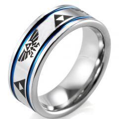 (Wholesale)Tungsten Carbide Legend of Zelda Ring - TG4043
