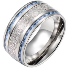 (Wholesale)Tungsten Carbide Meteorite Carbon Fiber Ring-4088