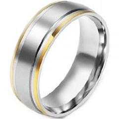 (Wholesale)Tungsten Carbide Double Groove Ring - TG4169