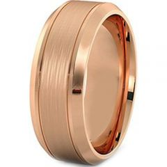 (Wholesale)Tungsten Carbide Double Groove Ring - TG4184