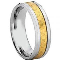 (Wholesale)Tungsten Carbide Ring With Carbon Fiber - TG4202