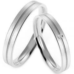 (Wholesale)Tungsten Carbide Center Groove Ring - TG4216