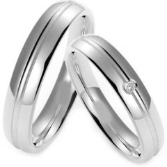 (Wholesale)Tungsten Carbide Double Groove Ring - TG4218
