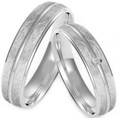 (Wholesale)Tungsten Carbide Center Groove Ring - TG4219