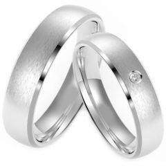 (Wholesale)Tungsten Carbide Beveled Edges Ring - TG4223