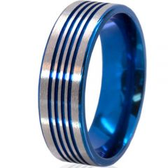 (Wholesale)Tungsten Carbide Four Groove Ring - TG4259