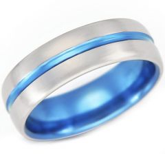 (Wholesale)Tungsten Carbide Center Groove Ring - TG4263