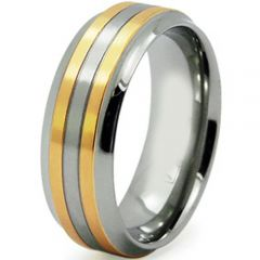 (Wholesale)Tungsten Carbide Double Groove Ring - TG4276
