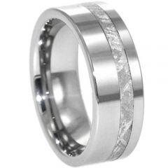 (Wholesale)Tungsten Carbide Imitate Meteorite Ring - TG4278