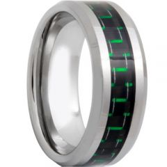 (Wholesale)Tungsten Carbide Ring With Carbon Fiber-TG4318