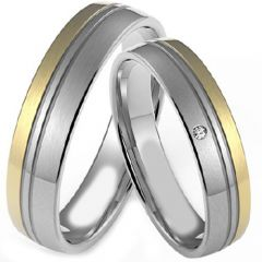 (Wholesale)Tungsten Carbide Double Groove Ring - TG4339