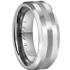 (Wholesale)Tungsten Carbide Center Line Ring - TG4381