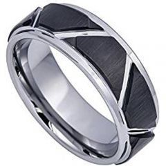 (Wholesale)Tungsten Carbide Triangle Angle Ring - TG4384