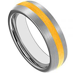 (Wholesale)Tungsten Carbide Dome Center Line Ring - TG4402