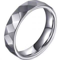 (Wholesale)Tungsten Carbide Faceted Ring - TG4443