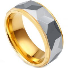 (Wholesale)Tungsten Carbide Faceted Ring - TG4444