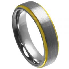 (Wholesale)Tungsten Carbide Step Edges Ring - TG4457