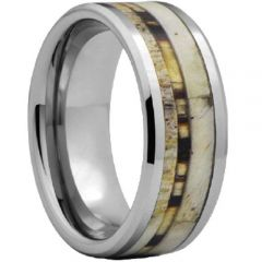 (Wholesale)Tungsten Carbide Deer Antler Camo Ring - TG4478