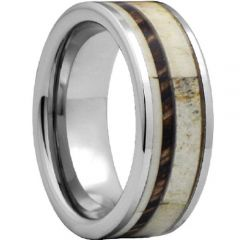 (Wholesale)Tungsten Carbide Deer Antler Camo Ring - TG4480