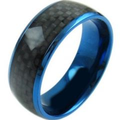 (Wholesale)Tungsten Carbide Ring With Carbon Fiber-TG4566
