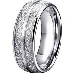 (Wholesale)Tungsten Carbide Imitate Meteorite Ring-462