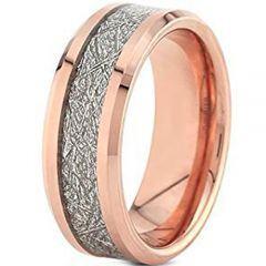 (Wholesale)Rose Tungsten Carbide Imitate Meteorite Ring - TG4