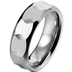 (Wholesale)Tungsten Carbide Faceted Ring - TG4654