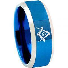 (Wholesale)Tungsten Carbide Masonic Ring - TG4685