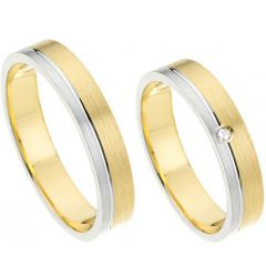 (Wholesale)Tungsten Carbide Offset Groove Ring - TG4694