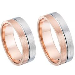 (Wholesale)Tungsten Carbide Center Groove Ring - TG4695