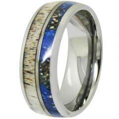 (Wholesale)Tungsten Carbide Deer Antler Camo Ring - TG4704