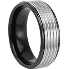 (Wholesale)Tungsten Carbide Four Groove Ring - TG4736